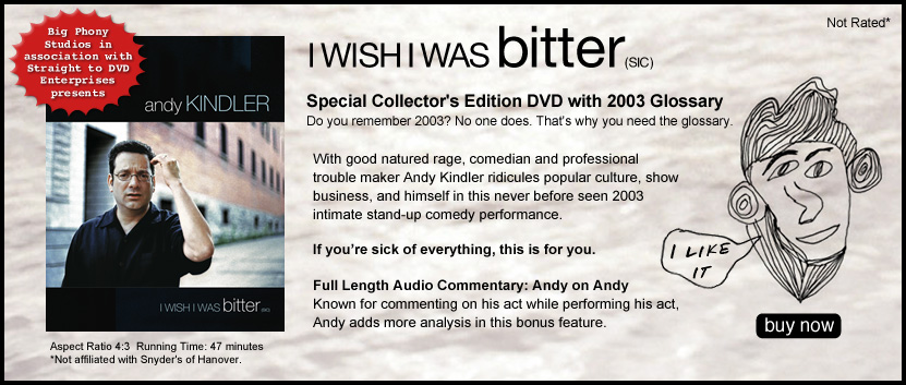 I Wish I Was Bitter DVD